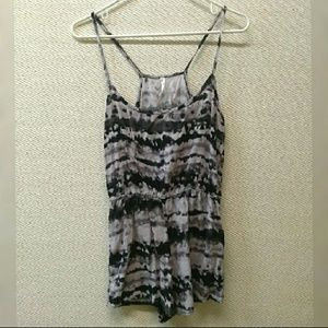 Ripe Black and White Tie-Dye Romper